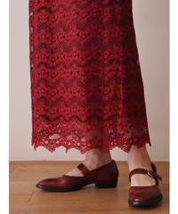 Flower design lace skirt