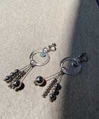 SILVER MIX BEADS EARRING