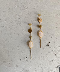 ROSE QUARTZ SKINNY CHAIN EARRING