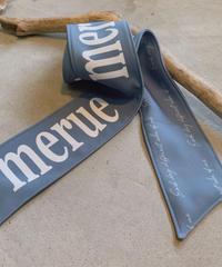 【再販決定! 1/26】MERUE SCARF /blue