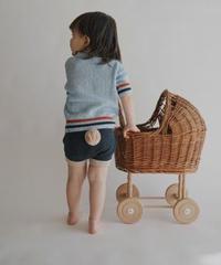 Shorts with pompom(navy)
