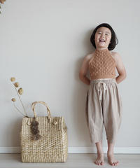 Stripe linen pants(beige)