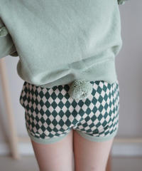 Diamond-pattern shorts(Green)