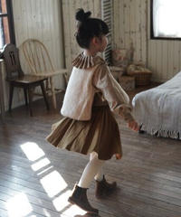 Pleated wool skirt (Caramel)