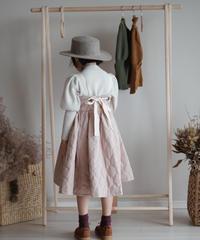Padded suspender dress(Pink)