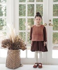 Faux fur vest (orange rust)
