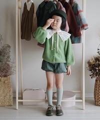 Mohair Cardigan Sweater(Green)