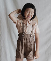 Pleated collar shirt(apricot)