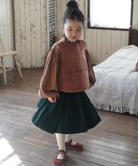 Pleated wool skirt(Green)