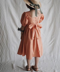 Balloon-sleeve dress(orange)