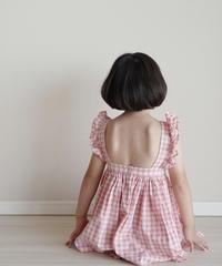 Check  dress (pink)