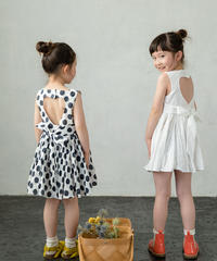 Open back dress (Polka dot)