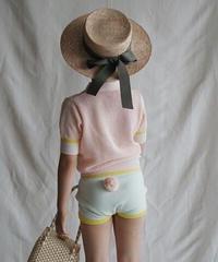 Shorts with pompom(mint)