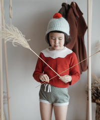 Frill collar sweater(Red)