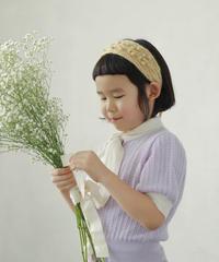 Cashmere Bow tie knit top (lavender )