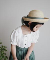 Balloon sleeve blouse (White)