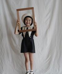 Suspender shorts(black)