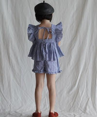 Plaid shorts (blue)