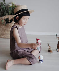 Linen jumpsuit (Brown)