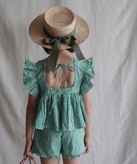 Butterfly sleeve top(green)
