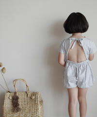Stripe jumpsuit (grey)