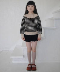 Frill collar sweater(Black)