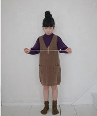 knitted dress(brown)