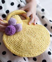 Pom Pom raffia children bag
