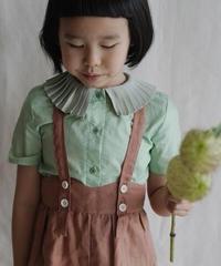 Pleated collar shirt(green)