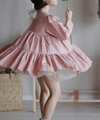 Layered dress(Pink)