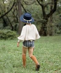 Kids cashmere shorts with pompom (navy)