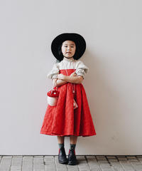 Quilted dress (red)