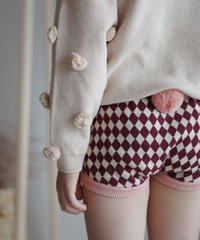 Diamond-pattern shorts(Pink)