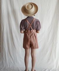Suspender shorts(brick red)
