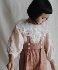 Lace collar blouse(beige pink)