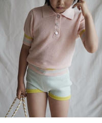 Striped polo shirt(pink)
