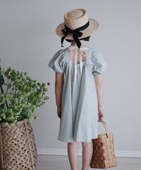 Puff sleeve dress (Blue)