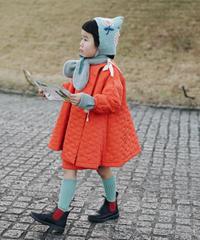 Quilted coat (orange )
