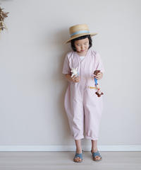 Cotton jumpsuit pink