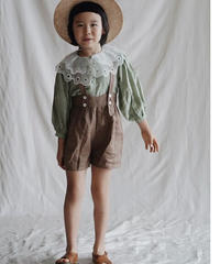 Lace collar blouse(green)