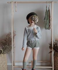 Frill collar sweater(Grey)