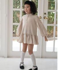 Lace collar dress (Beige)