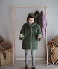 Faux fur coat(Green)
