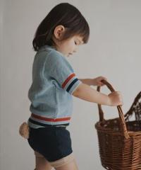 Striped polo shirt(blue)