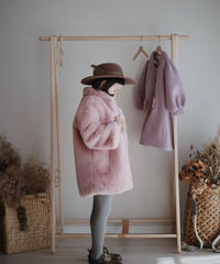 Faux fur coat(Pink)