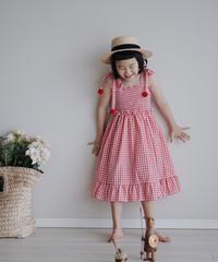 Check dress (Red)