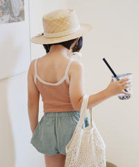 Knitted tank top (almond)