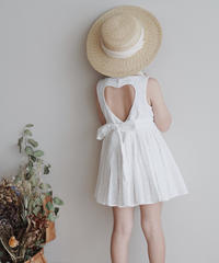 Open back dress (White)
