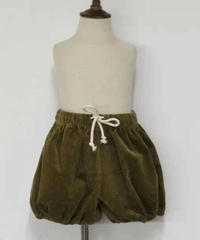 Pumpkin corduroy shorts (Auqamarin)