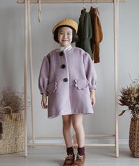 Lantern sleeve overcoat(Lanvender)